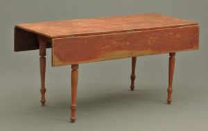 19th c. New England farm table in original red paint SOLD $1755