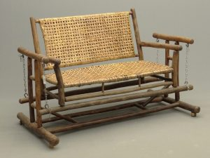Hickory Adirondack glider (adjustable).