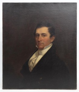 Chester Harding (Mass. 1792-1866), portrait of John Parker, oil on canvas