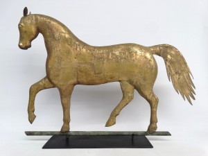 Prancing horse weathervane, attributed to A. L. Jewel & Co., Waltham Mass