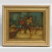 Felix Varla (Georgia/France 1903-1986), fisherman, oil on canvas