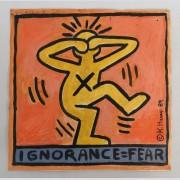 Keith Haring (N.Y./Penna. 1958-1990), gouache on paper/cardboard