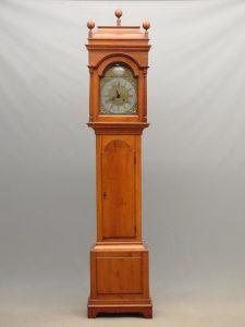 19th c. Continental grandfather clock