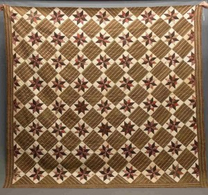 "19th C. ""Chintz Stars"" Quilt"