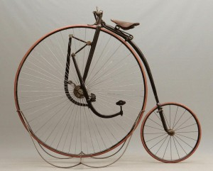 "C. 1888 Singer Extraordinary 48"" high wheel (ordinary) bicycle"