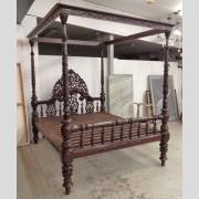 Massive mahogany bed