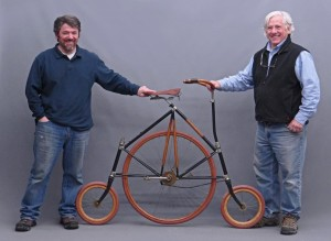 Very unique and rare (possibly only one in the world) high wheel with leading and trailing dual steering
