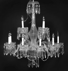 Signed Waterford chandelier