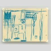 Jean-Michel Basquiat (1960-1988) oil stick on cream cardboard