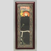 Scarce C. 1895 Victor Bicycle Poster in the Art Nouveau style by noted artist Will H. Bradley