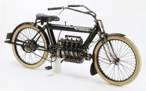 Rare 1911 Pierce four cylinder motorcycle
