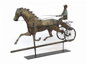 Horse And Sulky Weathervane