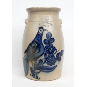 19th c. Stoneware Decorated Butter Churn