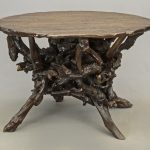 Impressive round top root table