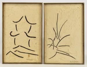 Jaques Hurtubise (Nova Scotia/Quebec Canada 1939-2014), two abstracts