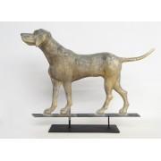 Hound dog full bodied weathervane.