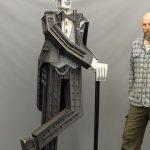 """James Grashow (b. 1942), """"Tuxedo Man"""" sculpture. 42"""" x 22"""" x 89"""" Ht.."""