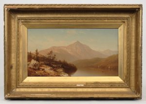 "Attributed to Sanford Robinson Gifford (Mass./N.Y. 1823-1880), ""Mountain Lake"", oil on canvas"