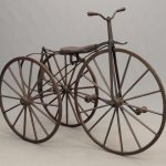 19th c. boneshaker tricycle. Built by Mr. Noyes of Binghamton N.Y..