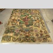 Folk Art Hooked Roomsize Rug