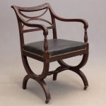 Lot 1. Style Of Duncan Phyfe, Curule Arm Chair