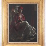 Lot 3. Julius Rolshoven (1858-1930), Pastel on Paper