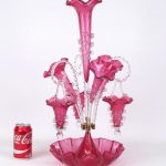 Lot 511. Victorian Style Cranberry Glass Epergne