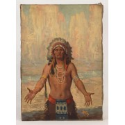 Harry Fisk (1887-1974), Native American, oil on canvas