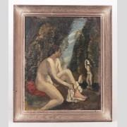 Felice Carena (Italy 1879-1966), Modernist subject, oil on panel