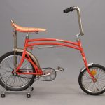 145. 1970's Swing bike, patented trick bicycle with pivotable rear wheel