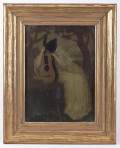 Oil on Wood Panel Painting, Abbot Handerson Thayer (1849-1921)