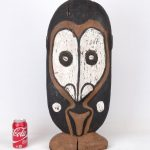 African wooden painted carving.
