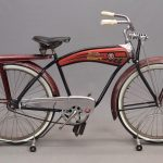 84. 1955 Monark Firestone tank bicycle