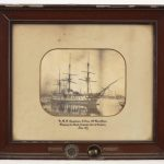 "Early framed photograph ""H.M.S. Agamemnon""."