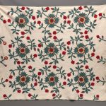 19th c. Floral Applique quilt.