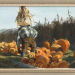"Ogden Minton Pleissner (Vt./N.Y. 1905-1983), ""November-The Farmers Market"". Watercolor"