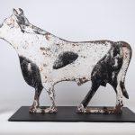 C. 1900-1915 cast iron bull windmill weight. Fairbury, Nebraska made