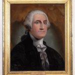 William Matthew Prior (Mass./ME. 1806-1872), reverse painting of George Washington