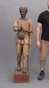 "19th c. cigar store wooden Turk figure. 66"" Ht"