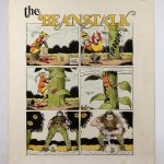 "Howard Nostrand (United States 1929-1984), ""the Beanstalk"", original comic illustration for ""Cracked #167""."