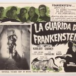 "Lobby card ""LA GUARIDA DE FRANKENSTEIN""."