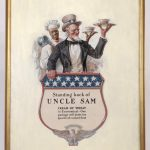 "Edward Vincent Brewer (MN./N.Y. 1883-1971), ""Standing Back Of Uncle Sam"", original Cream Of Wheat illustration. Oil on canvas"