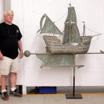 Monumental Galleon ship weathervane