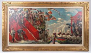 Riggs, Patriotic Illustration, oil on panel.