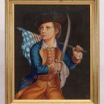 American School, 19th c. Patriotic Portrait