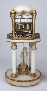 Rare 19th c. English marble and brass clock