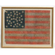 Early 36 star printed American flag.
