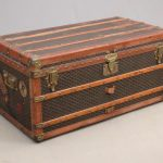 Early Goyard trunk. Hardware marked Goyard.