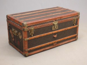 Early Goyard trunk.