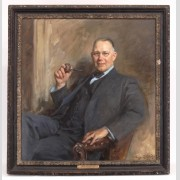 Irving Ramsey Wiles (1861-1948), portrait of Dr. Martin De Forest Smith, oil on canvas